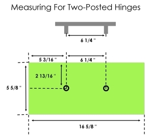 Measuring for kitchen drawer handle positioning