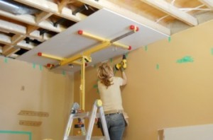 attaching drywall to ceiling joists