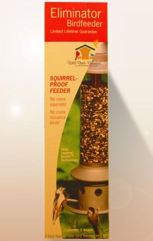 The Eliminator squirrel proof bird feeder from Wild Birds Unlimited
