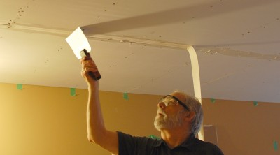 feathering the drywall seam