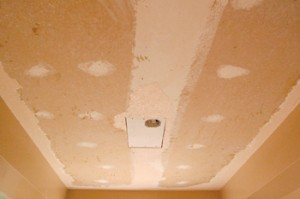 Popcorn ceiling removed