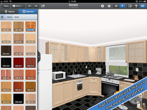 Interior Design for IPad App Review - Menus