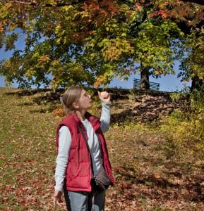 Sandy Garland at the Fletcher Wildlife Garden