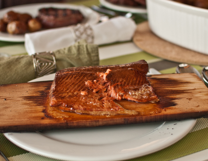 planked salmon marinade