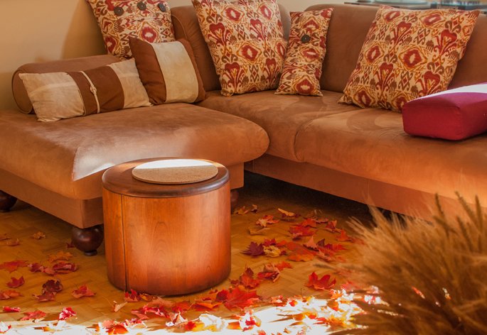use fall leaves for home decor