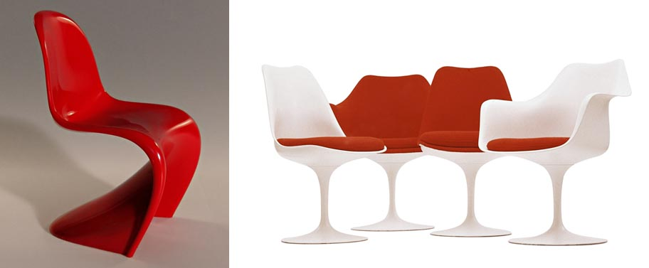 Panton Chair and Tulip Chair