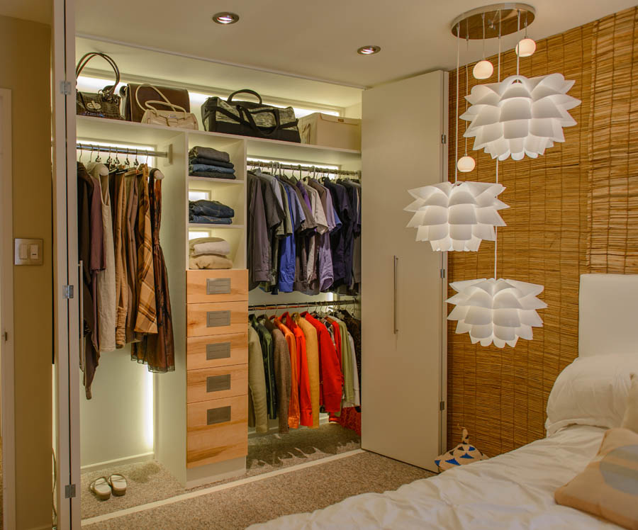Elegant Custom Closet Renovation With LED Lightin